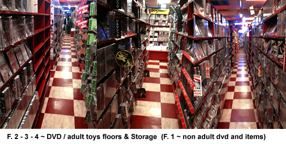 dvd storage and store floor