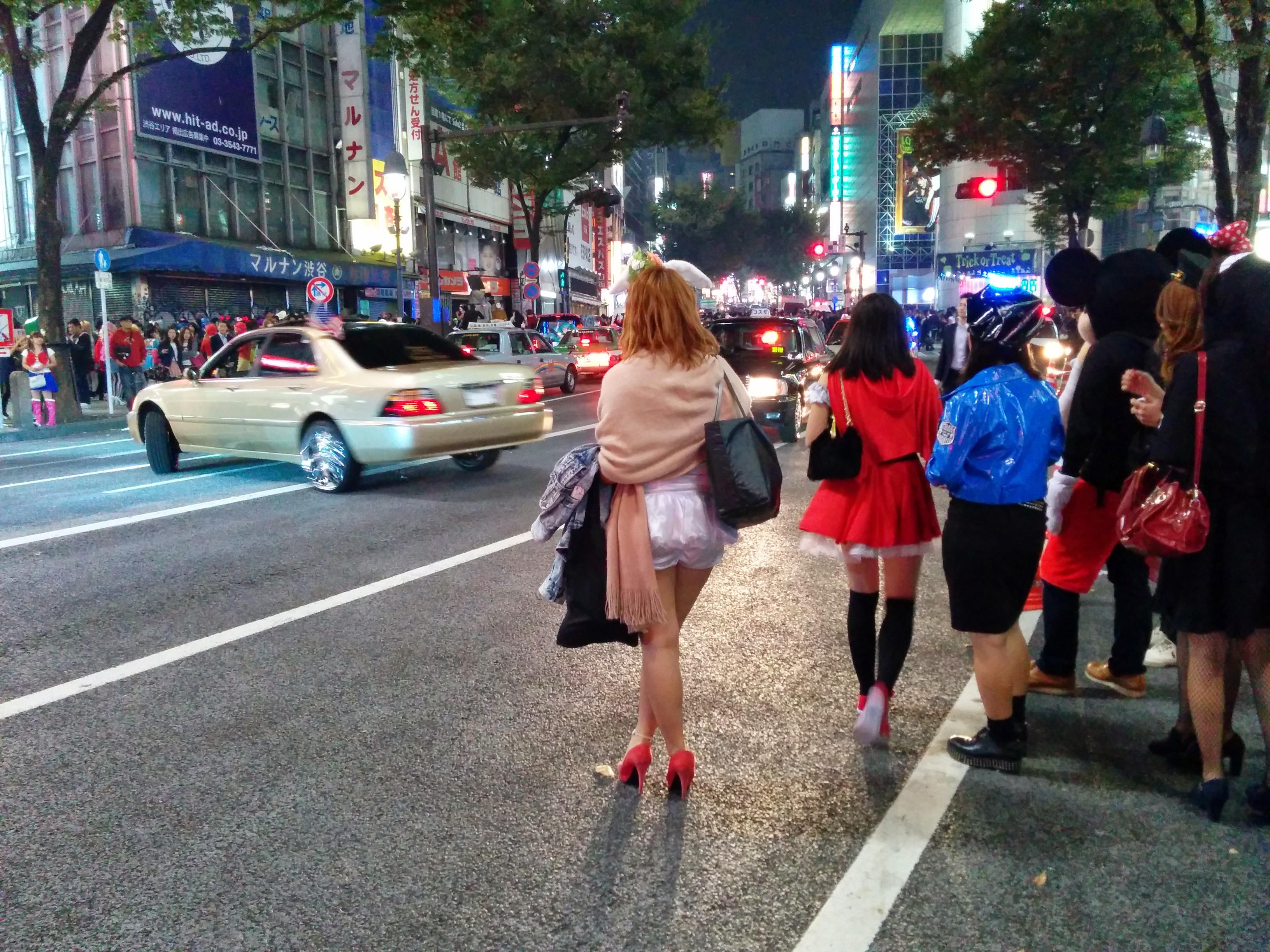 crowded Shibuya 2014